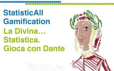Festival StatisticAll 2021: Gruppo Alcuni porta in vita Dante, Beatrice e Virgilio in un gioco a tema statistica